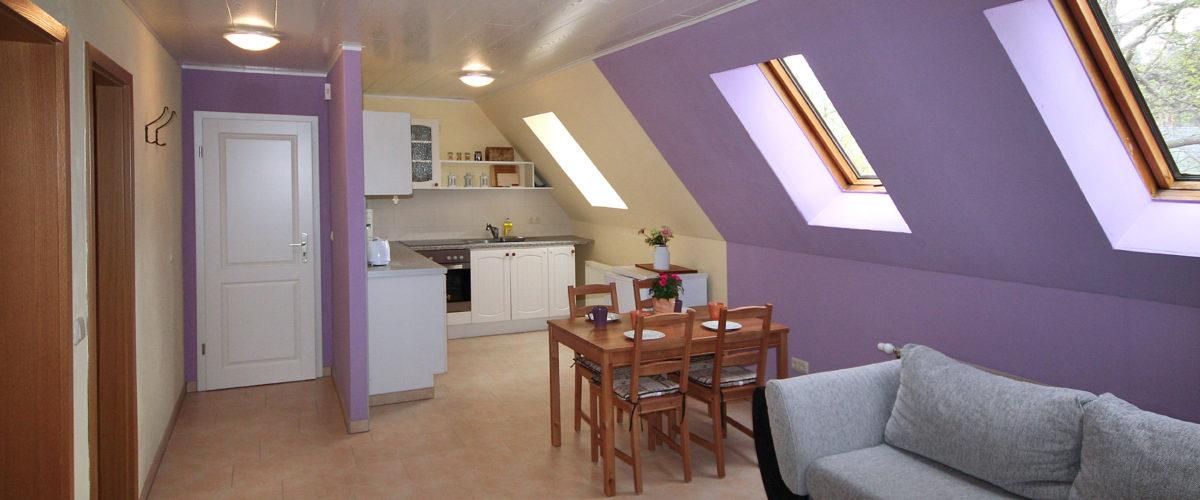 Auch für Pärchen eine bezaubernde Wohnung für romantische Stunden in der Uckermark.