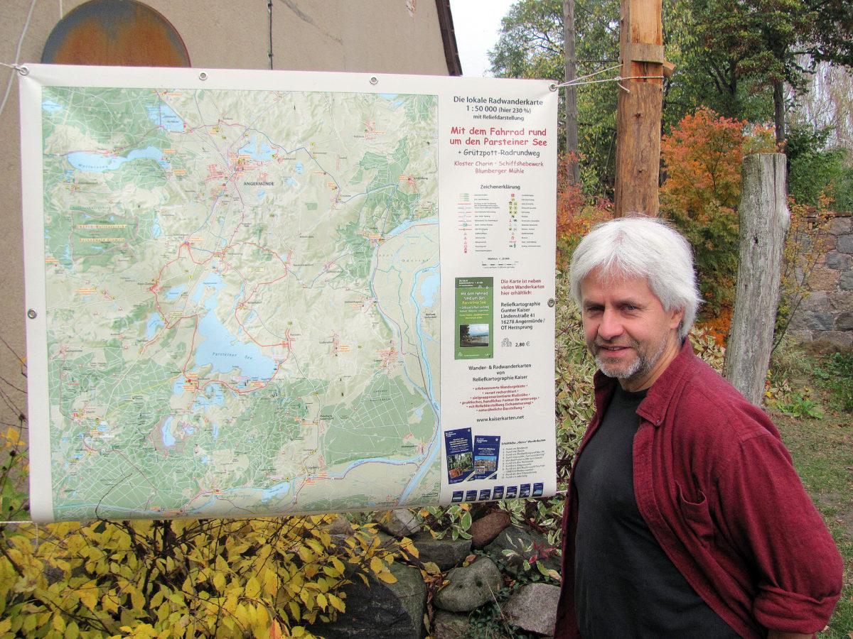 Wanderkarten für die Uckermark im Pocketformat
