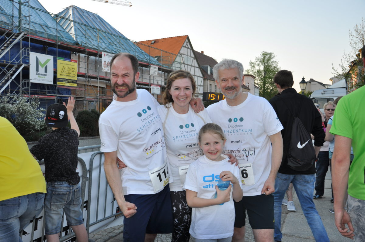 Voller Motivation beim Teamlauf 2018 in Angermünde